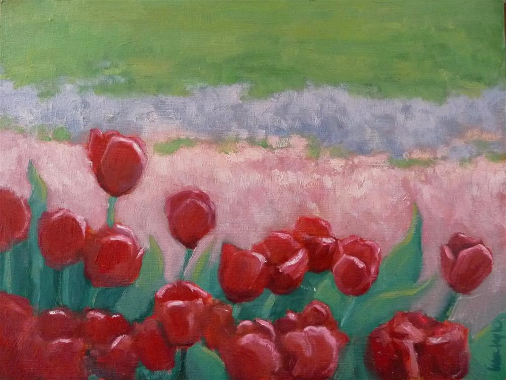 """Dancing Tulips"" original fine art by Lisa Kyle"