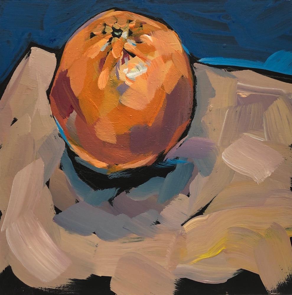 """Orange and Blue"" original fine art by Kat Corrigan"