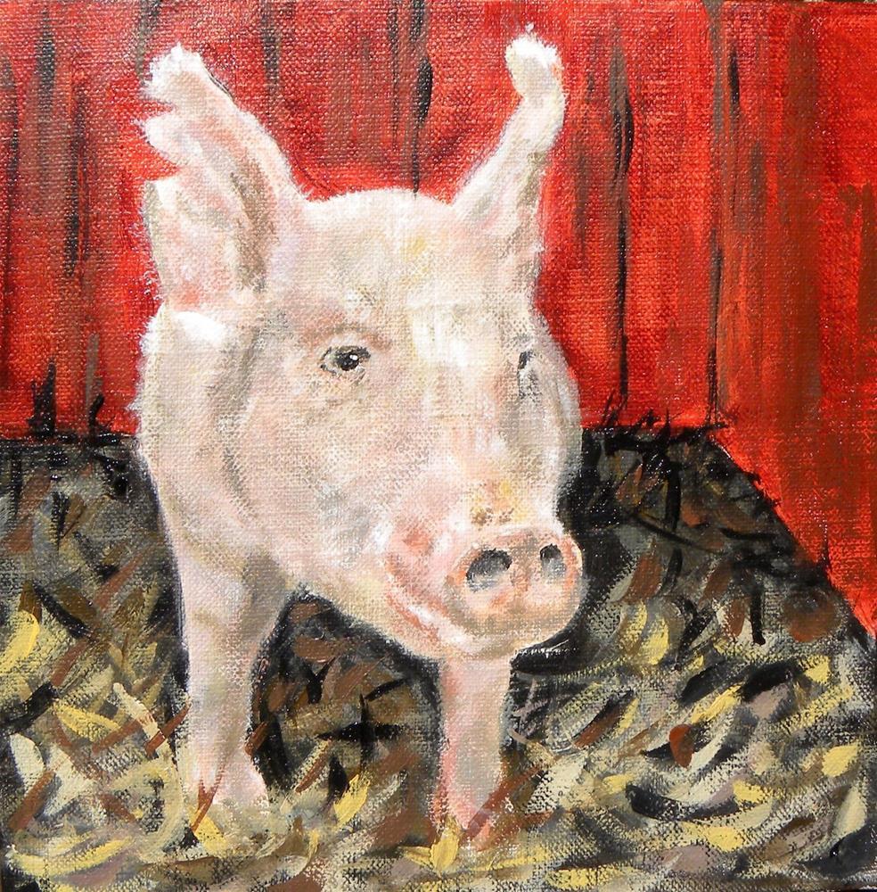 """Bringin' Home The Bacon"" original fine art by cheryl buhrman"