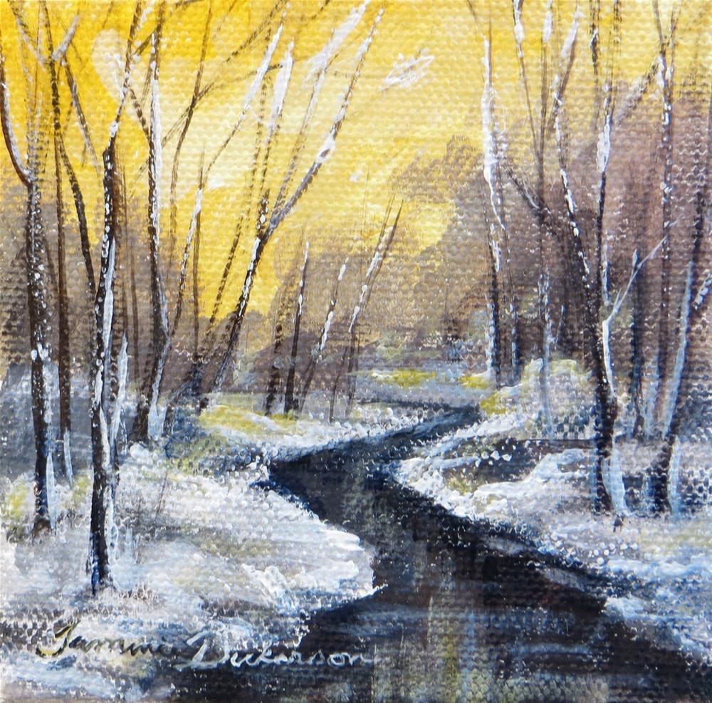 """Winter Gold"" original fine art by Tammie Dickerson"