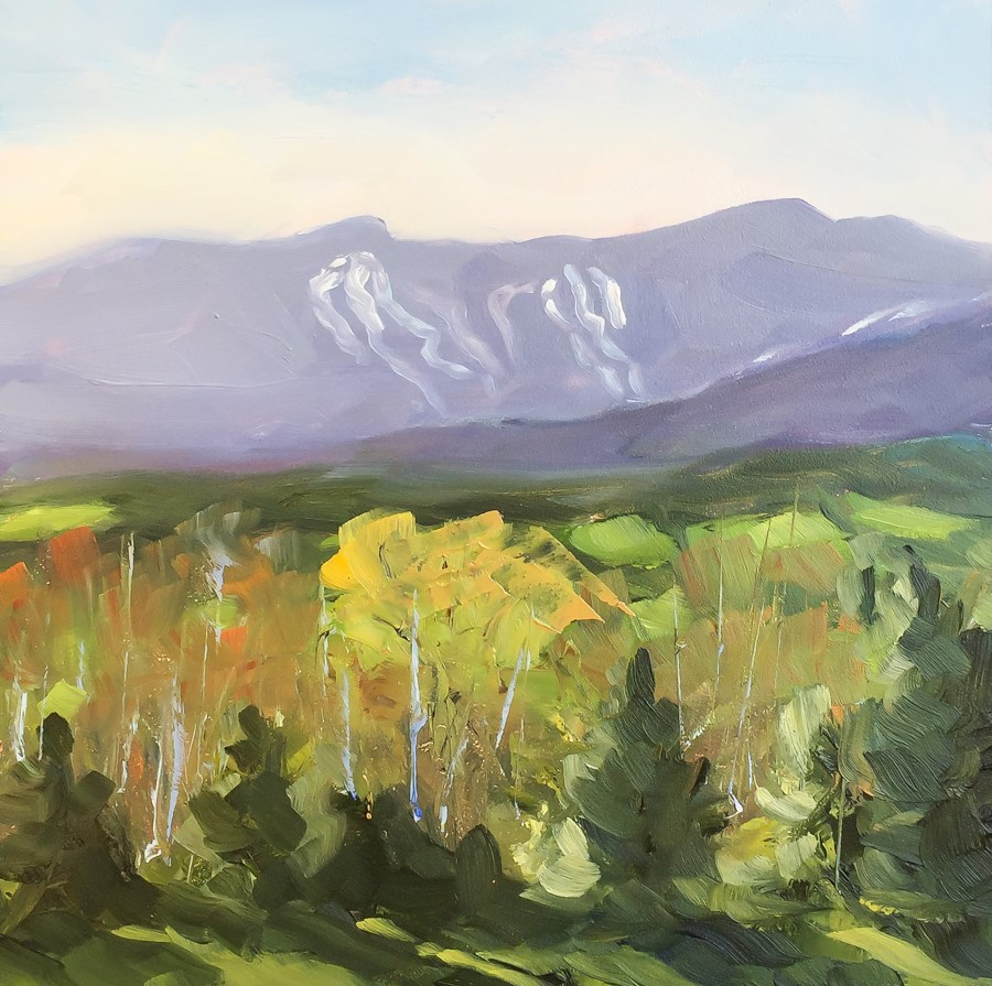"""#144 - Springtime - Mt Mansfield - Stowe, VT"" original fine art by Sara Gray"