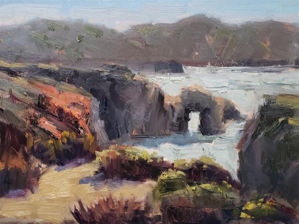 """Last Light at Point Lobos "" original fine art by Barbie Smith"