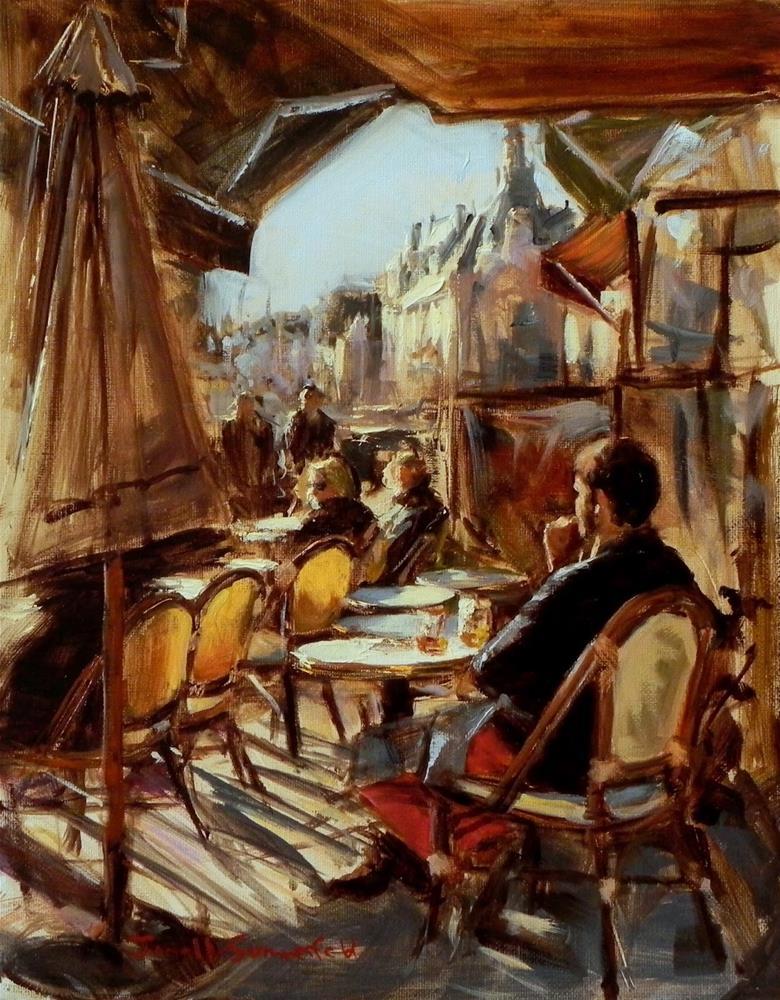 """""""Afternoon in Trouville"""" original fine art by Jonelle Summerfield"""