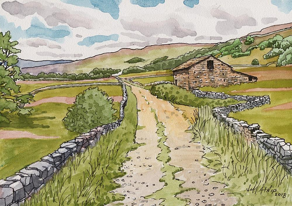 """Yorkshire Dales Path"" original fine art by Jeff Atnip"