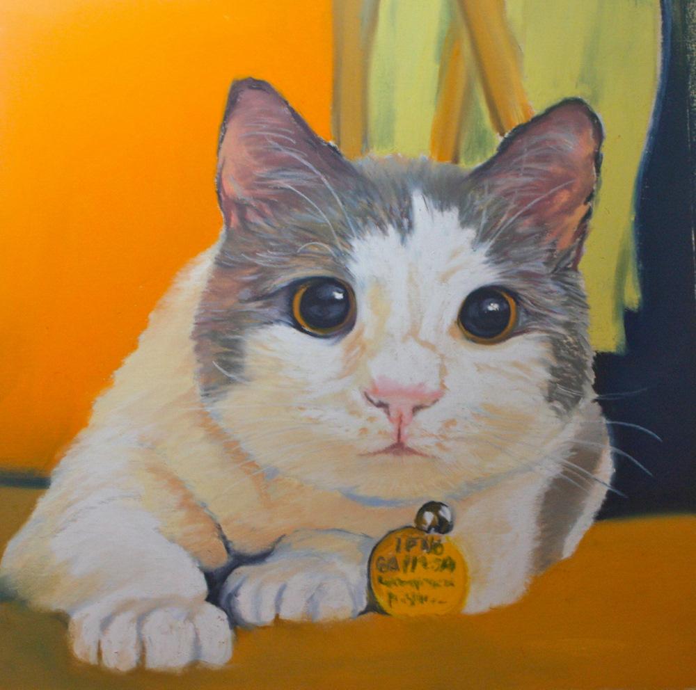 """Pancake"" original fine art by Jill Bates"