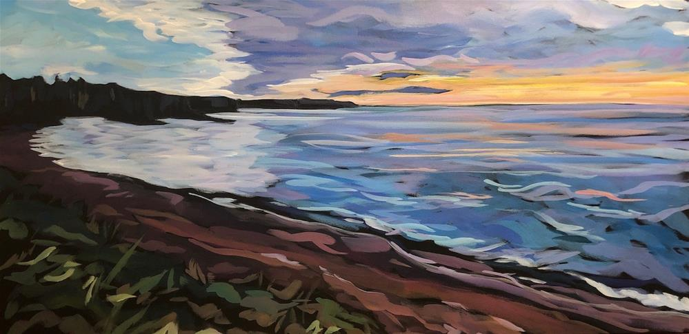 """Early Morning on the Lakeshore"" original fine art by Kat Corrigan"