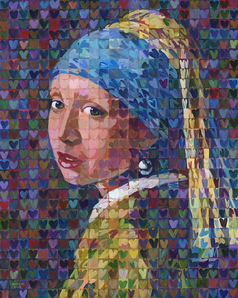 """I ♥ Girl With A Pearl Earring"" original fine art by Randal Huiskens"