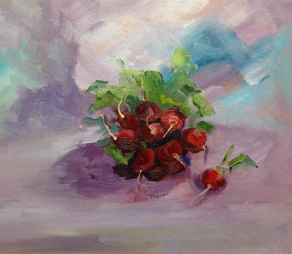 """Radish Salad"" original fine art by Peggy Schumm"
