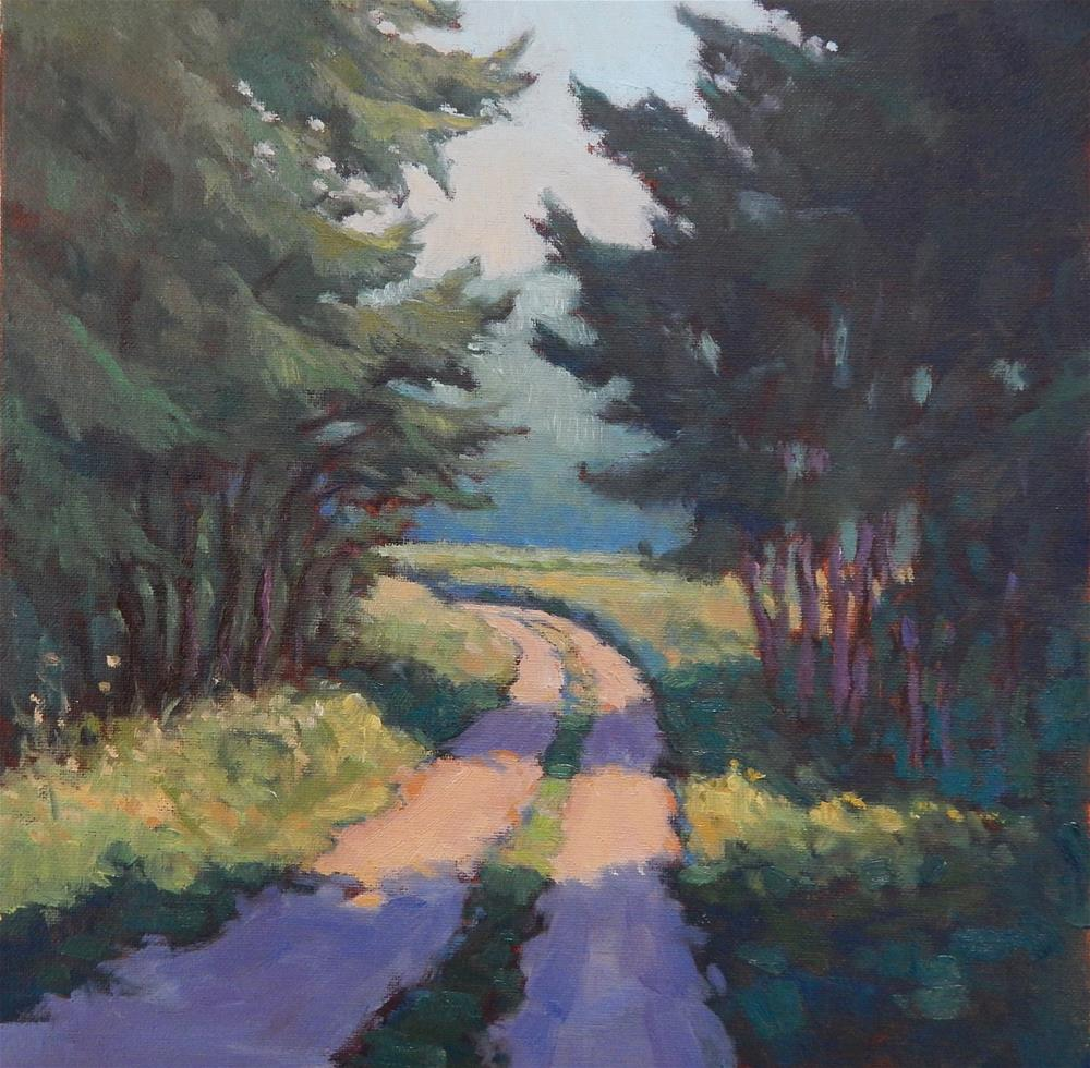 """""""Into the Woods"""" original fine art by Lisa Kyle"""