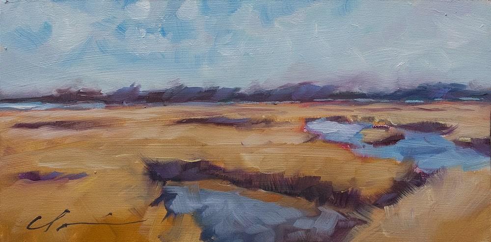 """Fall Marsh"" original fine art by Clair Hartmann"