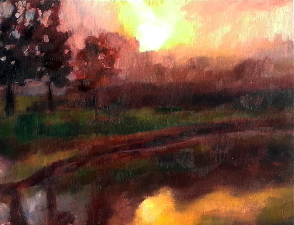 """Warm Glow at Sunset"" original fine art by Nava Judith"
