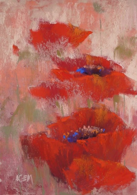 """Let's Paint with Red!"" original fine art by Karen Margulis"