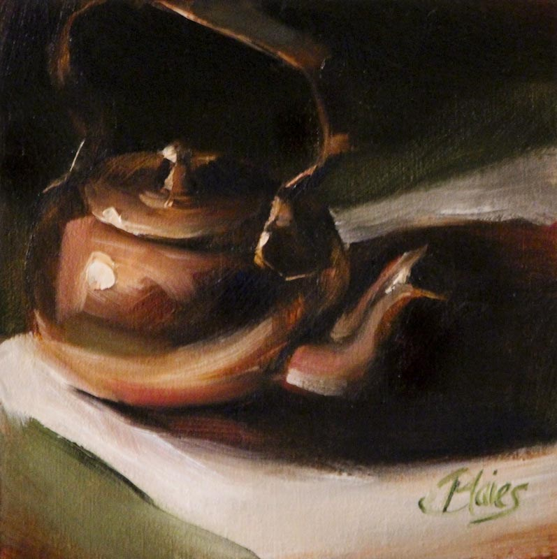 """Copper Teapot"" original fine art by Pamela Blaies"
