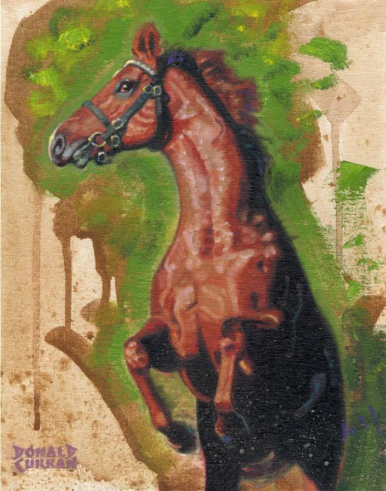 """Horse"" original fine art by Donald Curran"