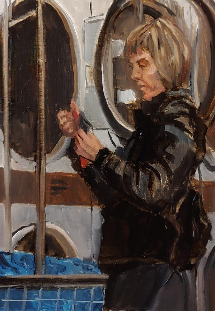 """""""Laundromat - 1"""" original fine art by Edward Watson"""