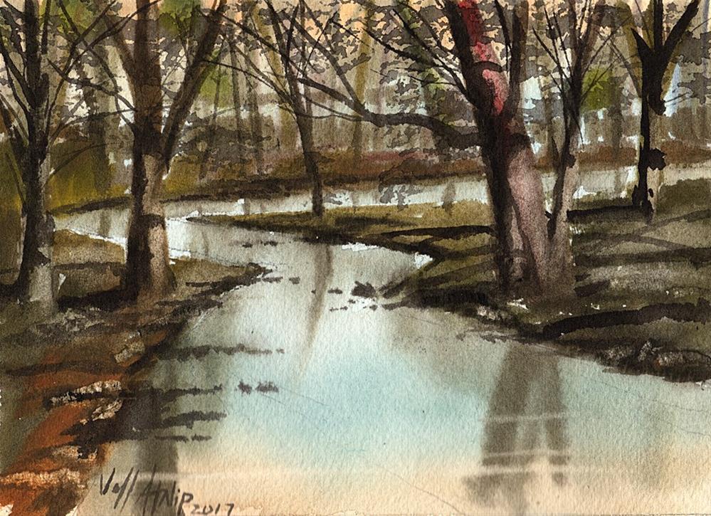 """Creek In The Woods"" original fine art by Jeff Atnip"