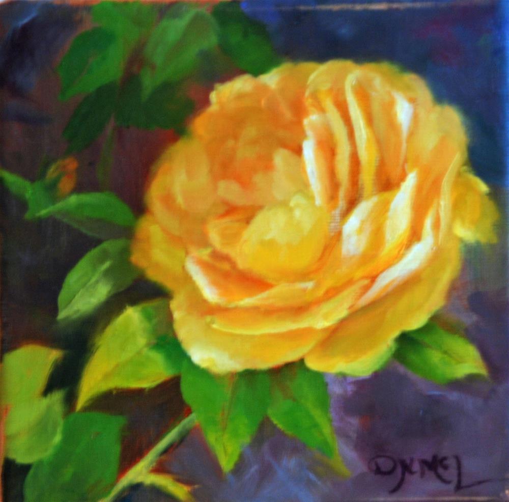 """Climbing Rose"" original fine art by Dorothy McLennan"