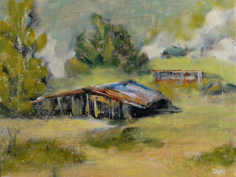 """""""Stables On The Hill, Valley Of The Moon, Sonoma CA"""" original fine art by Dalan Wells"""
