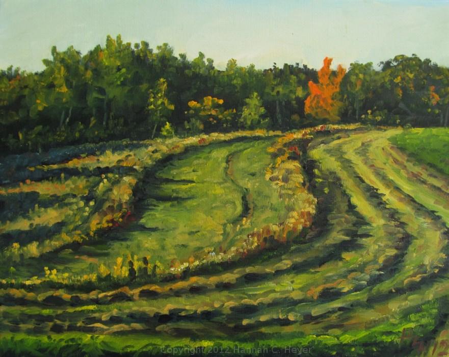 """Fiery Maple - plein air"" original fine art by Hannah C. Heyer"