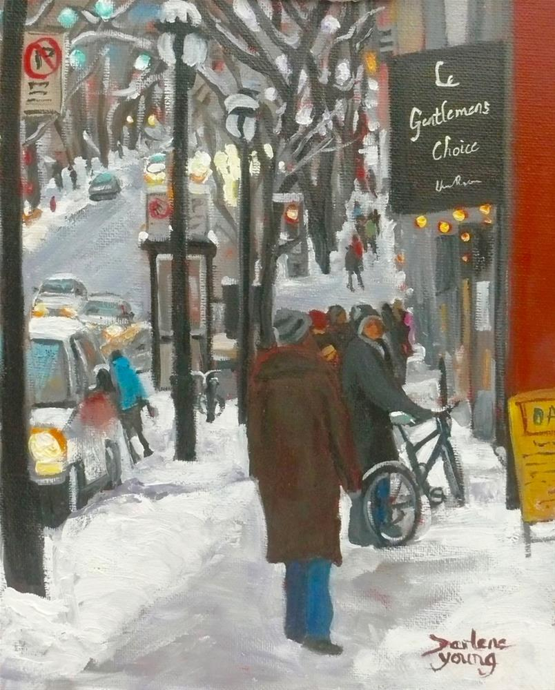 """1090 Rue St. Denis, 8x10 oil on board"" original fine art by Darlene Young"