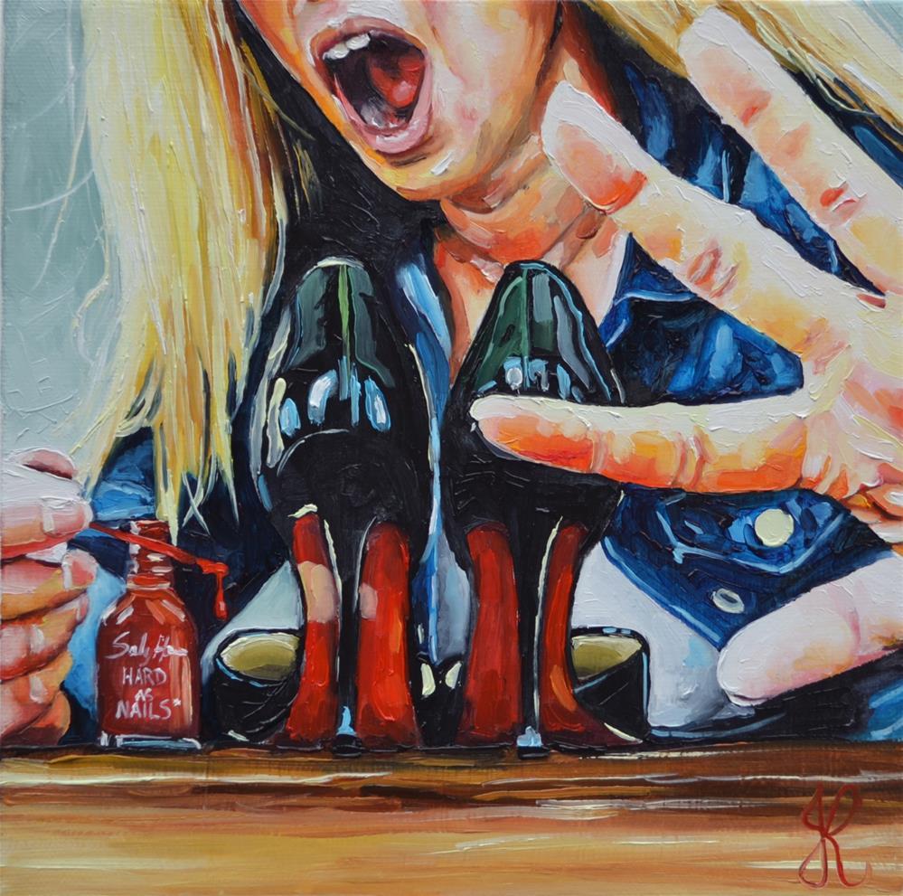 """Busted!"" original fine art by Jacinthe Rivard"