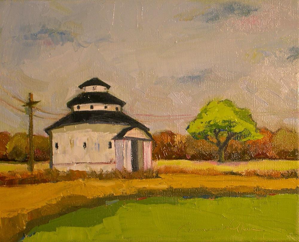 """""""The Round Barn"""" original fine art by Donna Walker"""