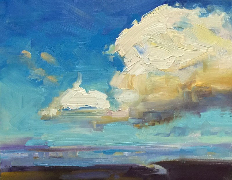 """Coastal Cloud Drama"" original fine art by Patti McNutt"