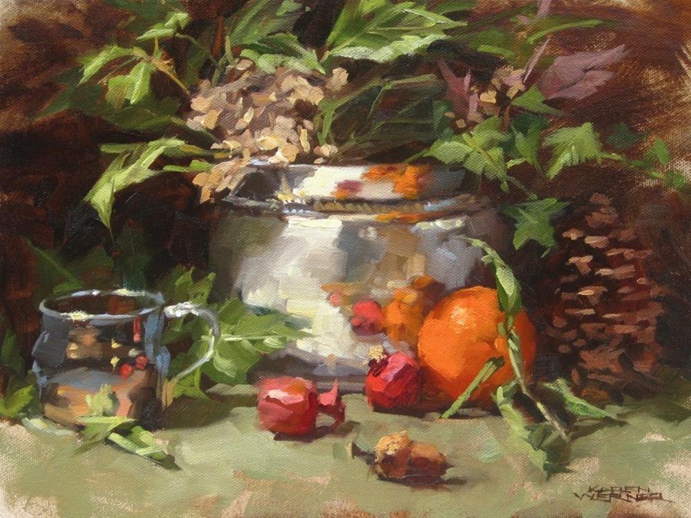 """""""Winter Arrangement"""" original fine art by Karen Werner"""