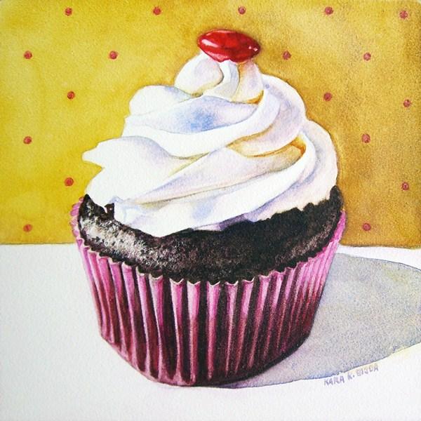 """Libby's Cupcake"" original fine art by Kara K. Bigda"