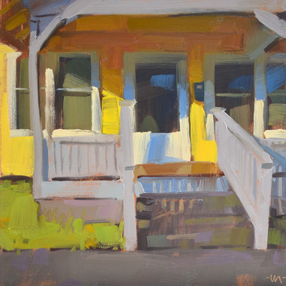 """Paint the House Yellow"" original fine art by Carol Marine"