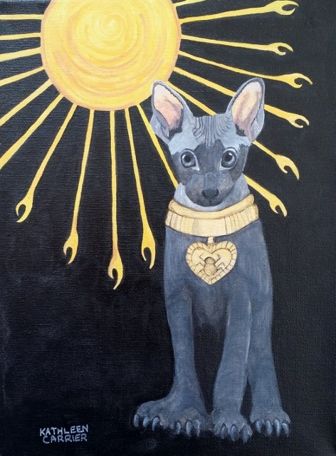 """Cat in Aten Light"" original fine art by Kathleen Carrier"