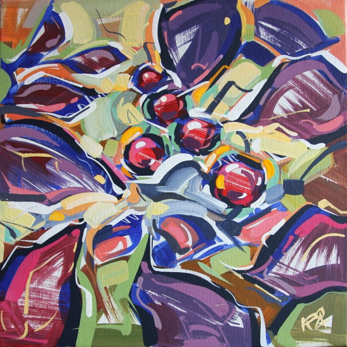 """""""Autumn Berry Abstraction 4"""" original fine art by Roger Akesson"""