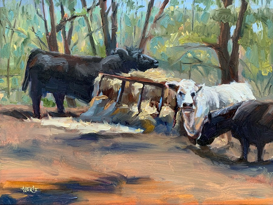 """Hay, It's Lunchtime"" original fine art by Andrea Jeris"