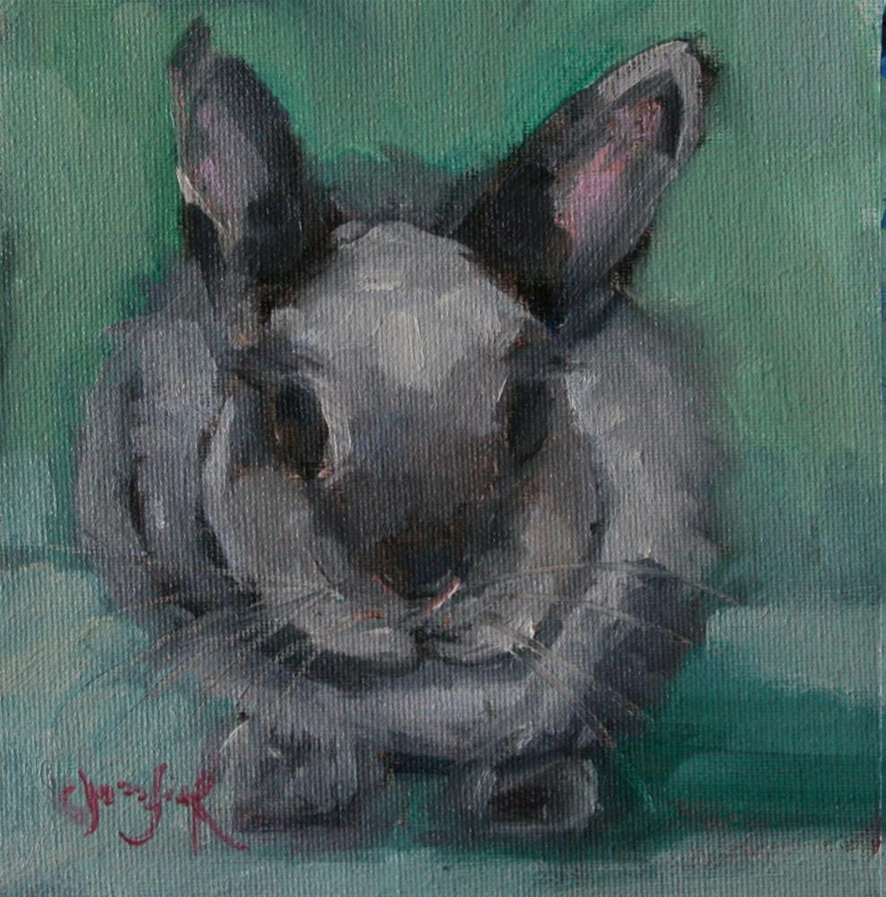 """School Bunny"" original fine art by Carol Josefiak"