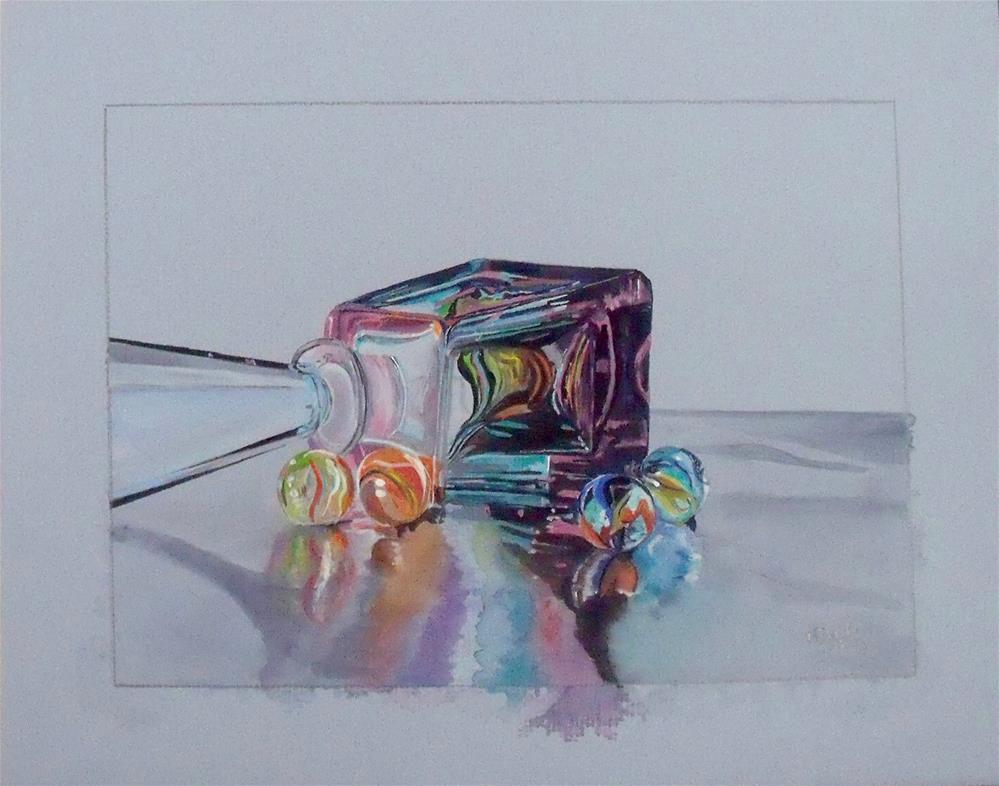 """""""Toys, Then and Now"""" original fine art by Nelvia McGrath"""
