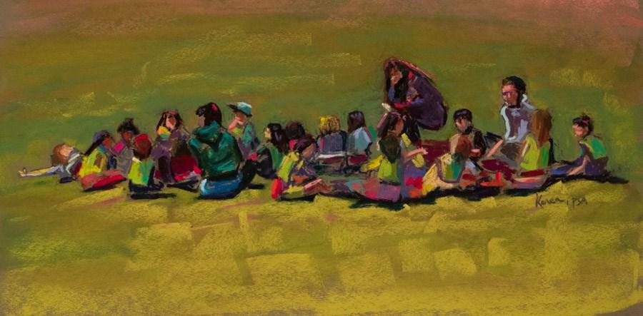 """""""School Forms"""" original fine art by karen israel"""