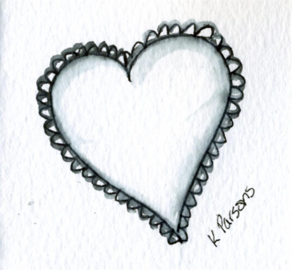 """Love"" original fine art by Kali Parsons"