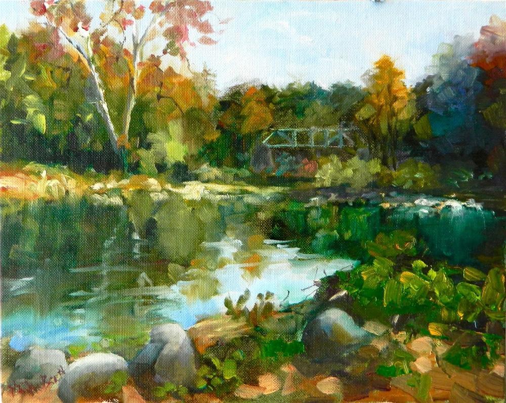 """Along the Brandywine, 8x10, oil, Maryanne Jacobsen art, Brandywine Creek, Hagley Museum, Breck's M"" original fine art by Maryanne Jacobsen"