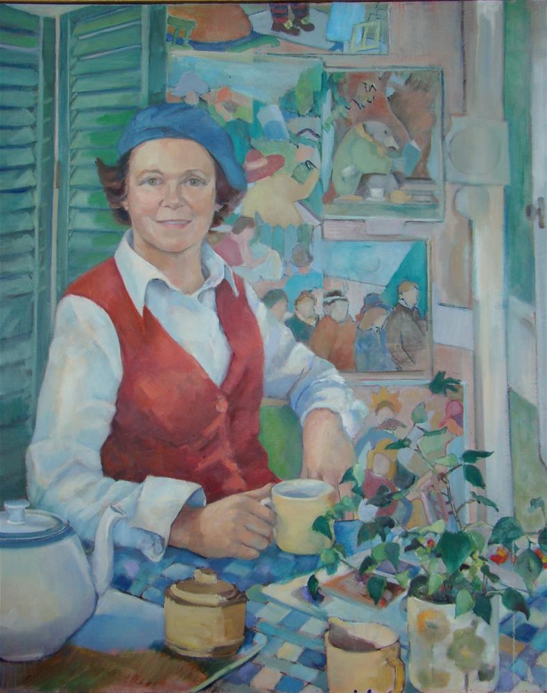 """""""The artist"""" original fine art by meribeth coyne"""