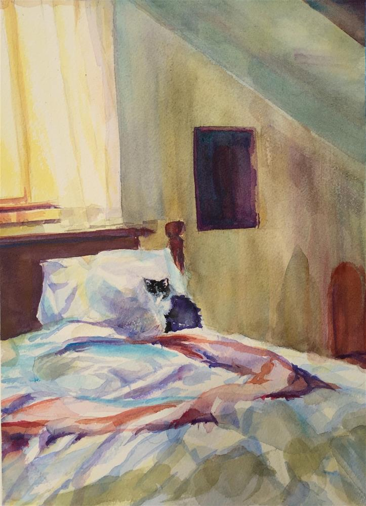 """""""Upstairs Bedroom"""" original fine art by Jean Krueger"""