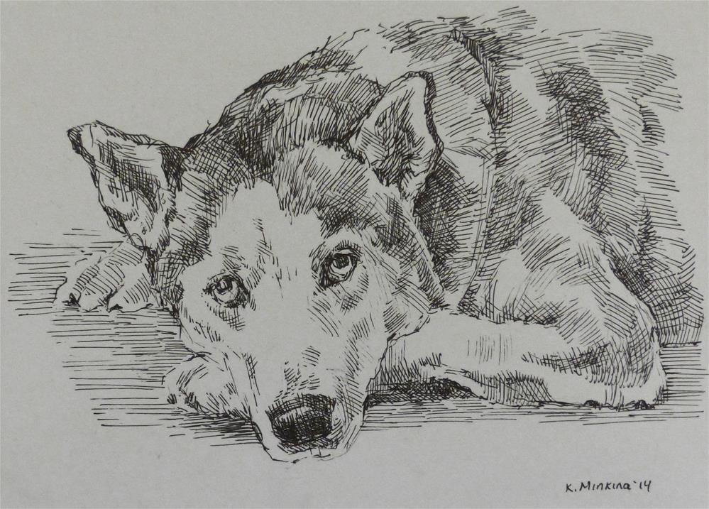 """adopt17"" original fine art by Katya Minkina"