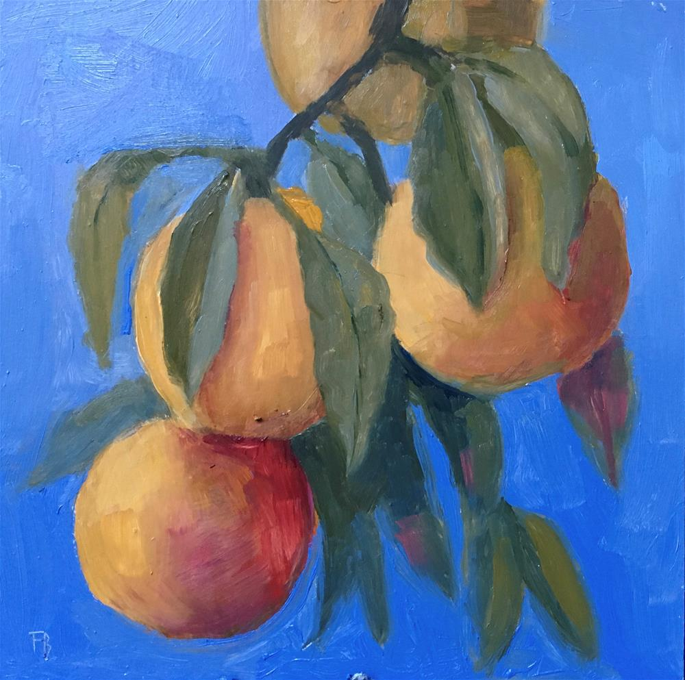 """""""073 Peaches On A Branch"""" original fine art by Fred Bell"""