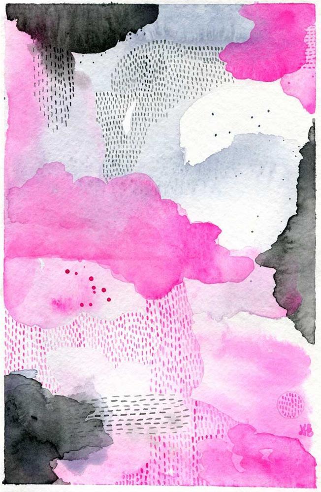 """Moody Pink"" original fine art by Heather Bennett"