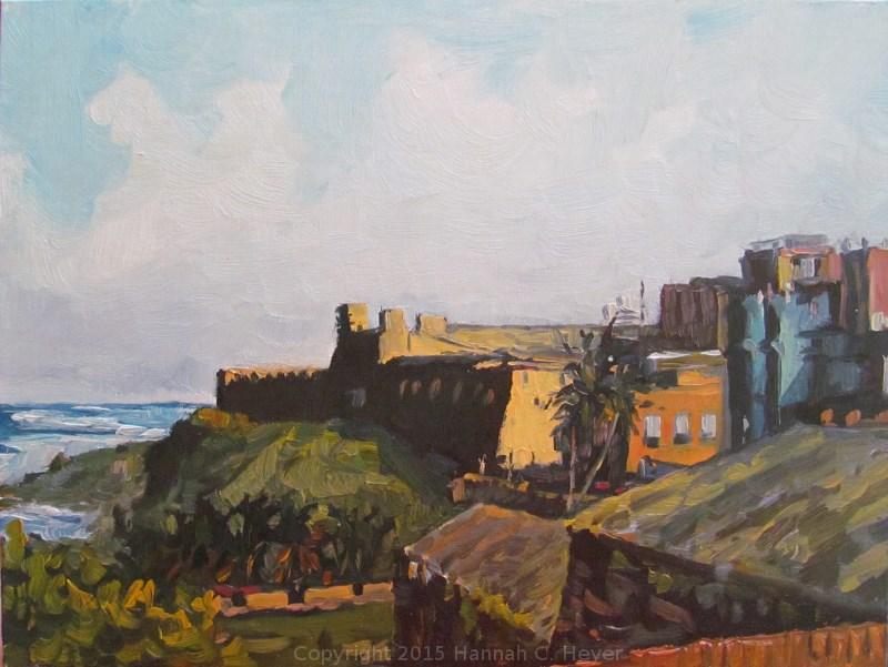 """""""Afternoon in Old San Juan"""" original fine art by Hannah C. Heyer"""