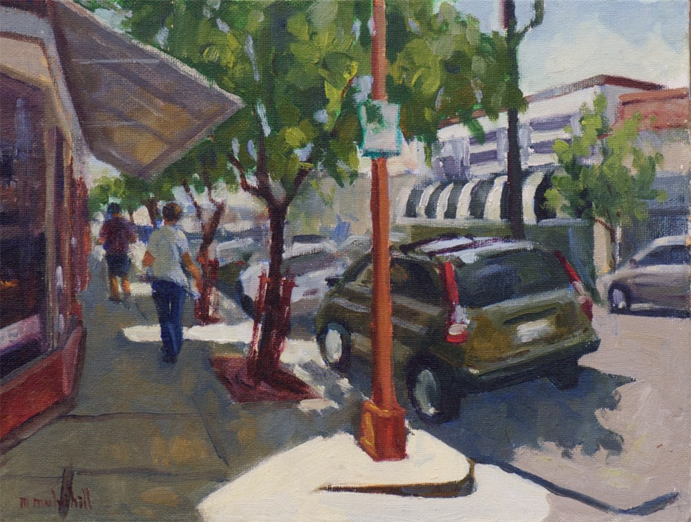 """Ray Street Afternoon"" original fine art by Mary Mulvihill"