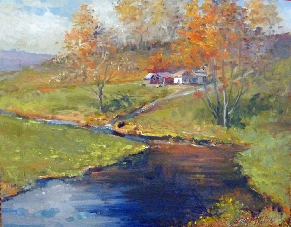 """First Signs of Fall"" original fine art by Kirk Miller"