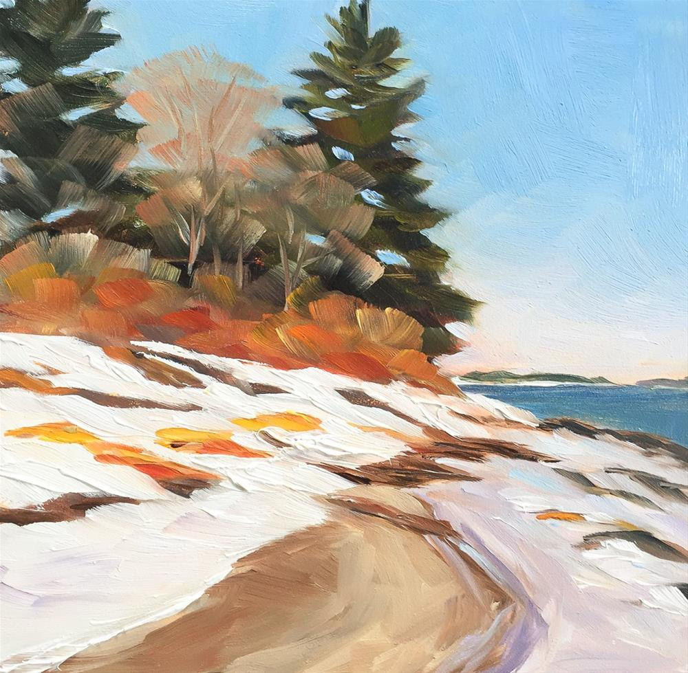 """#57 - Frigid  - Mackworth Island, ME"" original fine art by Sara Gray"