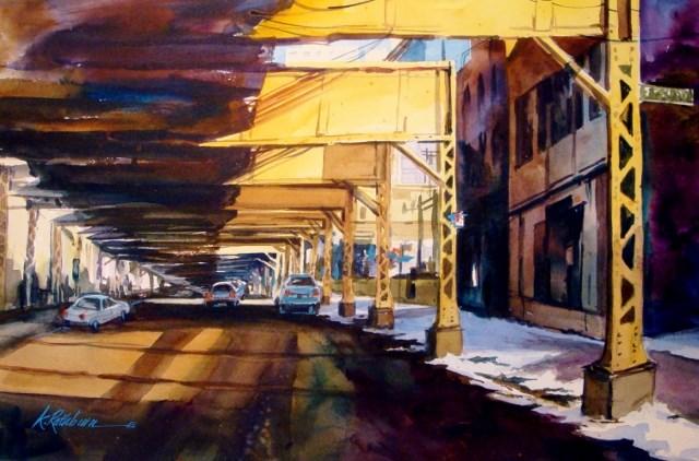 """Splashes of Chicago II"" original fine art by Kathy Los-Rathburn"