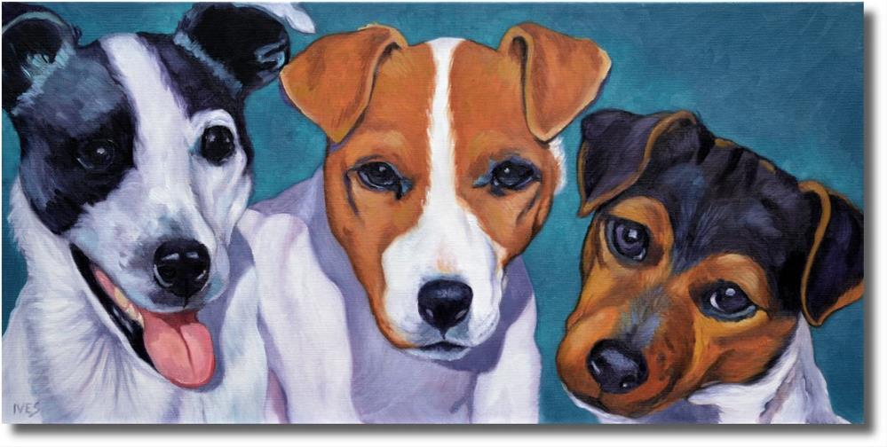 """""""Jack Russell Terriers"""" original fine art by Rk Ives"""