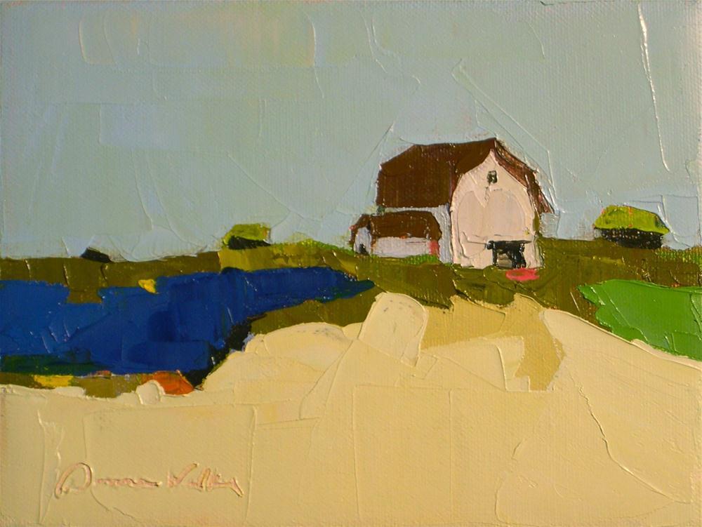 """Little Farm"" original fine art by Donna Walker"